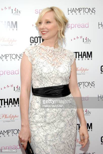 Anne Heche attends 'SPREAD' Premiere with GOTHAM HAMPTONS magazines at UA East Hampton Theater on August 8 2009 in East Hampton NY