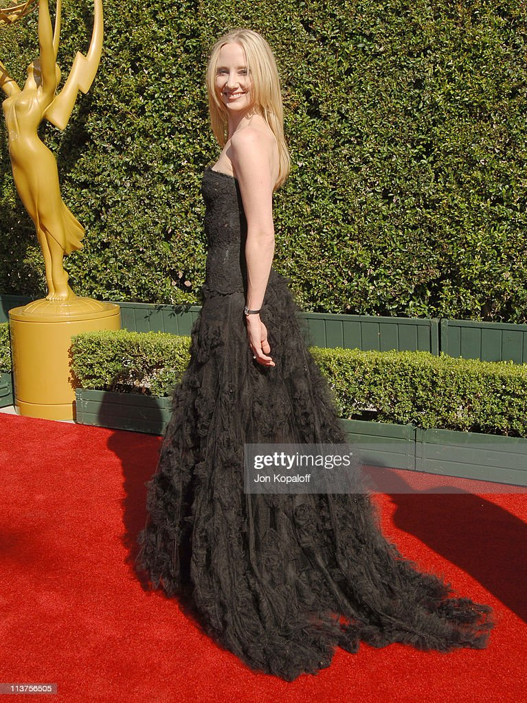 Anne Heche during 57th Annual Primetime Creative Arts EMMY Awards - Arrivals & Red Carpet at Shrine Auditorium in Los Angeles, California, United States.