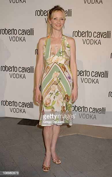 Anne Heche during Fashion Designer Roberto Cavalli Celebrates The Launch Of 'Roberto Cavalli Vodka' Arrivals at Private Residence in Holmby Hills...