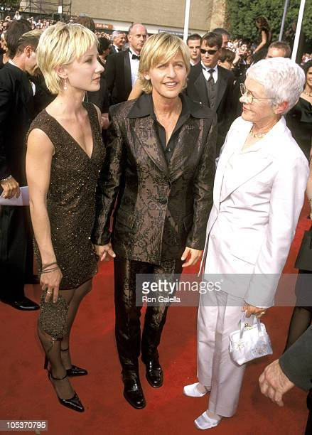 Anne Heche Ellen Degeneres and Mother Betty DeGeneres