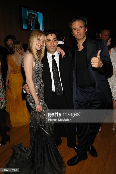 Anne Heche Jason Weinberg and Coleman Laffoon attend Vanity Fair Oscar Party at Morton's Restaurant on March 5 2006