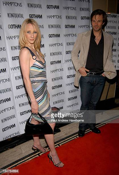 Anne Heche wearing Di MODOLO during Kim Cattrall Hosts the StarStudded Anniversary Celebration of Gotham and LA Confidential Magazines – Arrivals at...