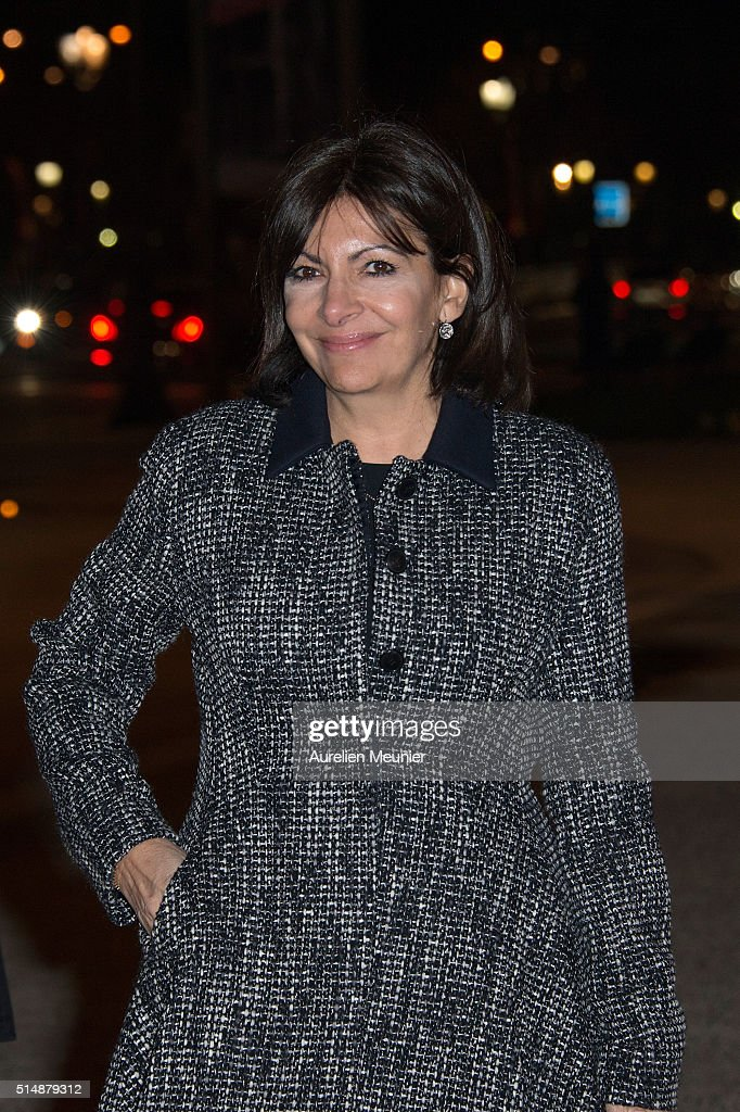 Anne Hidalgo, Paris city Mayor arrives to a reception given by King Willem-Alexander of the Netherlands and Queen Maxima in honor of the French President Francois Hollande at Le Petit Palais on March 11, 2016 in Paris, France. Queen Maxima and King Willem-Alexander of The Netherlands are on a two-day state visit in France