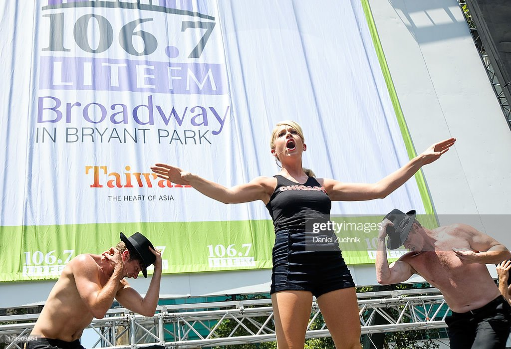 Anne Horak with cast from 'Chicago' performs during 106.7 LITE FM's Broadway in Bryant Park 2013 at Bryant Park on July 18, 2013 in New York City.