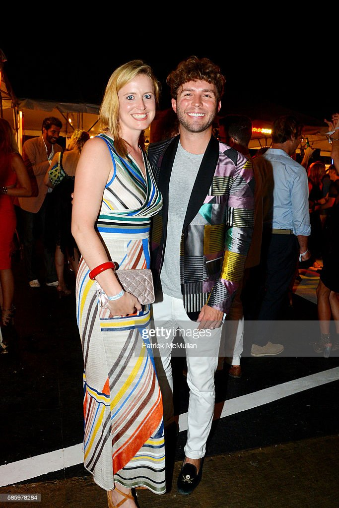 Anne Huntington and Timo Weiland attend The 23rd Annual Watermill Center Summer Benefit Auction at The Watermill Center on July 30 2016 in Water Mill...