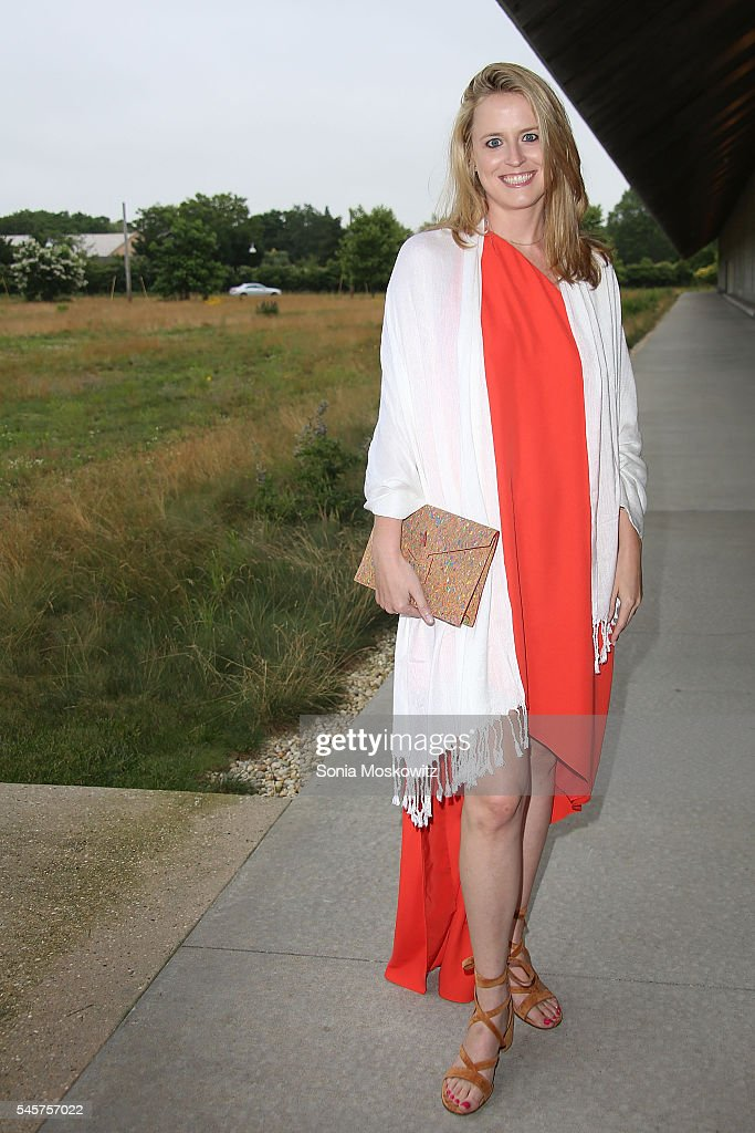 Anne Huntington attends the Parrish Art Museum Midsummer Party on July 9 2016 in Water Mill New York