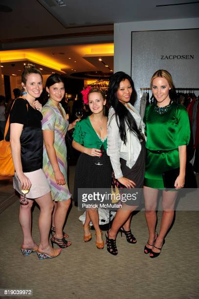 Anne Huntington Natalie Fasano Annika Connor Athena Liu and Elizabeth Grimaldi Kurpis attend SAKS FIFTH AVENUE hosts a Cocktail Reception with MoMA...