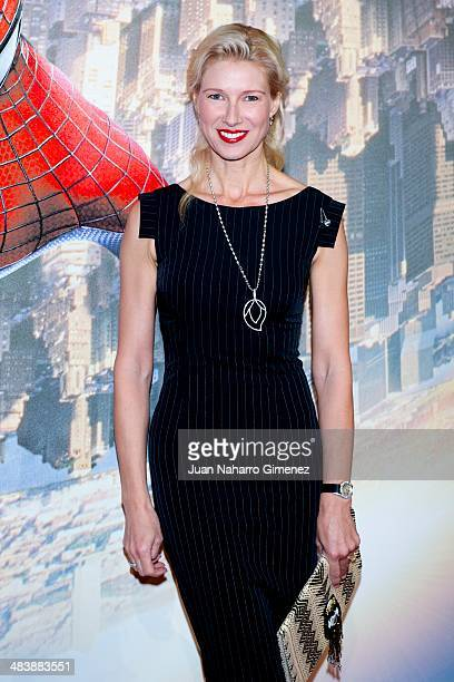 Anne Igarteburu attends 'The Amazing SpiderMan 2 Rise Of Electro' premiere at US ambassador's residence on April 10 2014 in Madrid Spain