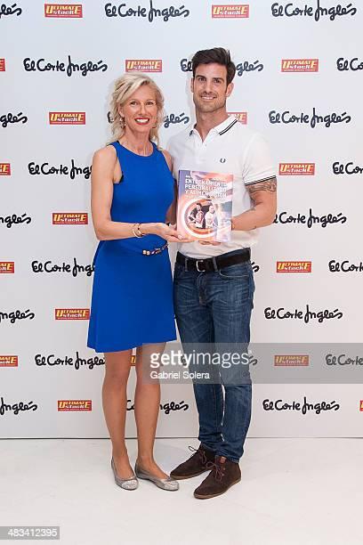 Anne Igartiburu and Aitor Ocio present his New Book 'Entrenamiento Personalizado y Alimentacion' at El Corte Ingles Store on April 8 2014 in Madrid...