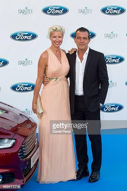 Anne Igartiburu and Antonio Banderas attend the 5th annual Starlite Charity Gala on August 09 2014 in Marbella Spain