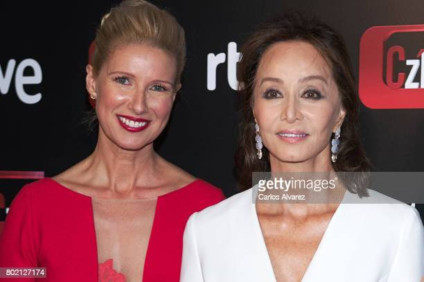 Anne Igartiburu and Isabel Preysler attend 'Corazon' TV programme 20th Anniversary at the Alma club on June 27 2017 in Madrid Spain