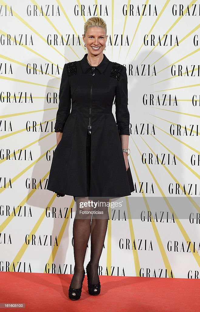 Anne Igartiburu attends Grazia Magazine launch party at the Circo Prize Theater on February 12, 2013 in Madrid, Spain.