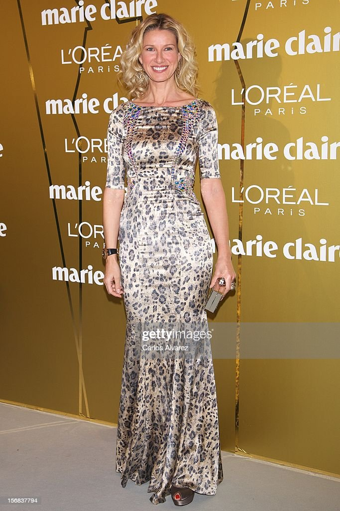 Anne Igartiburu attends Marie Claire Prix de la Moda Awards 2012 at the French Embassy on November 22, 2012 in Madrid, Spain.