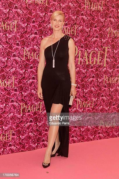 Anne Igartiburu attends Piaget private Dinner photocall at Kabuki restaurant on June 6 2013 in Madrid Spain