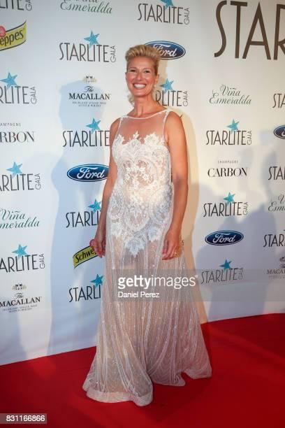 Anne Igartiburu attends Starlite Gala on August 13 2017 in Marbella Spain