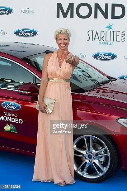 Anne Igartiburu attends the 5th annual Starlite Charity Gala on August 09 2014 in Marbella Spain