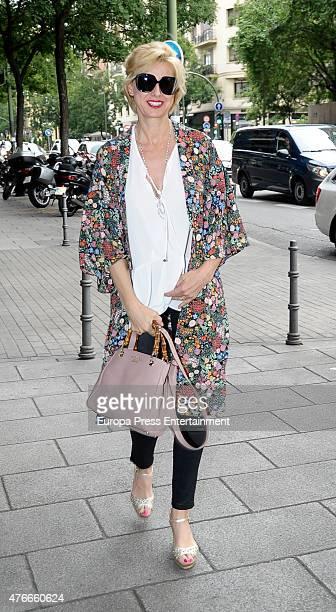 Anne Igartiburu attends the babyshower party of Gemma RuizCuadrado on June 10 2015 in Madrid Spain