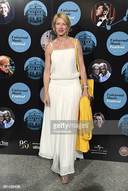 Anne Igartiburu attends the Elton John concert at the Royal Theater on July 20 2015 in Madrid Spain
