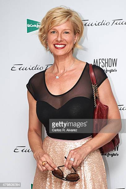 Anne Igartiburu attends the MFShow Emidio Tucci Catwalk at the Eurobuilding Hotel on July 7 2015 in Madrid Spain