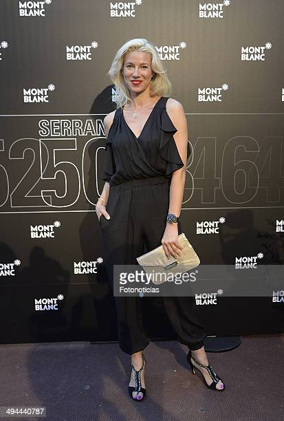 Anne Igartiburu attends the new Montblanc boutique inauguration cocktail party and dinner at the Grand Melia Fenix de Madrid on May 29 2014 in Madrid...
