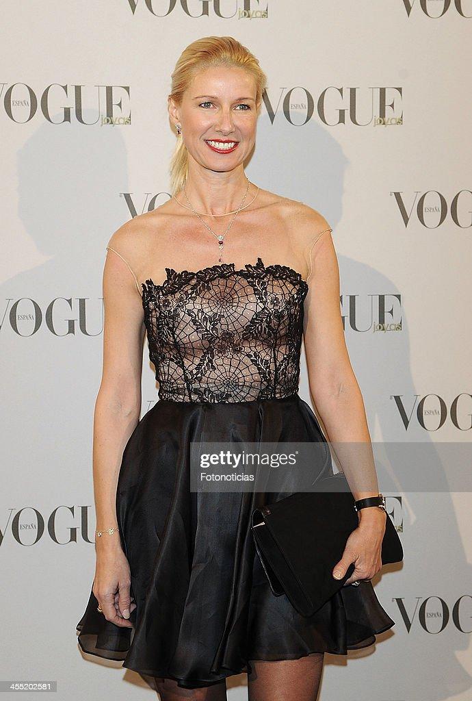 Anne Igartiburu attends Vogue Joyas 2013 Awards at the Palacio de la Bolsa on December 11, 2013 in Madrid, Spain.