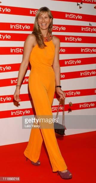 Anne Igartiburu during In Style Magazine Spring Dinner at La Riviera Club in Madrid Spain
