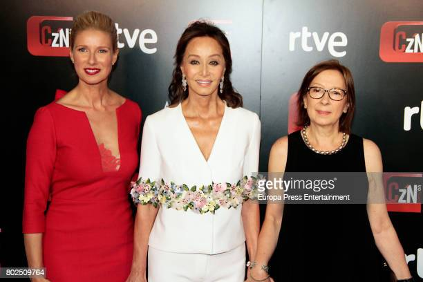 Anne Igartiburu Isabel Preysler and Carmina Jaro attend 'Corazon' TV Programme 20th Anniversary at Alma club on June 27 2017 in Madrid Spain