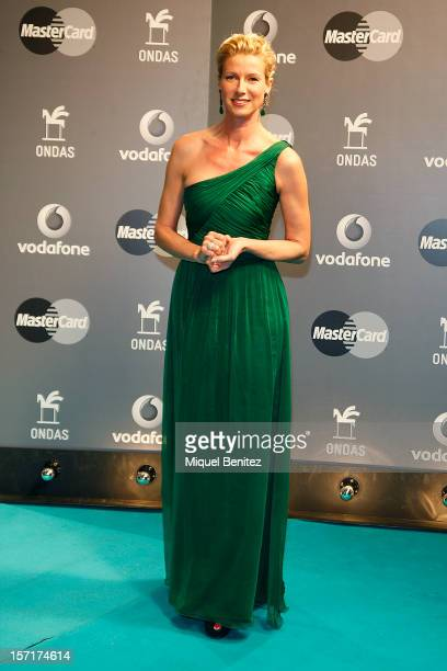 Anne Igartiburu poses during the photocall for the 59th Ondas Awards 2012 at the Gran Teatre del Liceu on November 29 2012 in Barcelona Spain