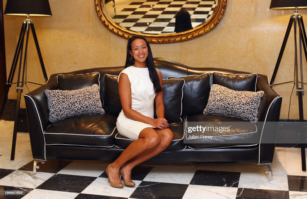 <a gi-track='captionPersonalityLinkClicked' href=/galleries/search?phrase=Anne+Keothavong&family=editorial&specificpeople=226838 ng-click='$event.stopPropagation()'>Anne Keothavong</a> of Great Britain poses for a photo at the Pan Americano Hotel during previews ahead of the Fed Cup World Group Two Play-Offs between Argentina and Great Britain at Parque Roca on April 18, 2013 in Buenos Aires, Argentina.