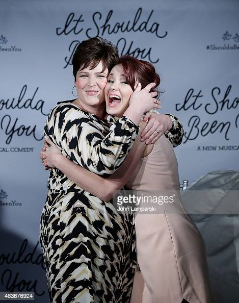 Anne L Nathan and Sierra Boggess attend 'It Shoulda Been You' Press Preview at Pronovias Flagship Store on February 17 2015 in New York City