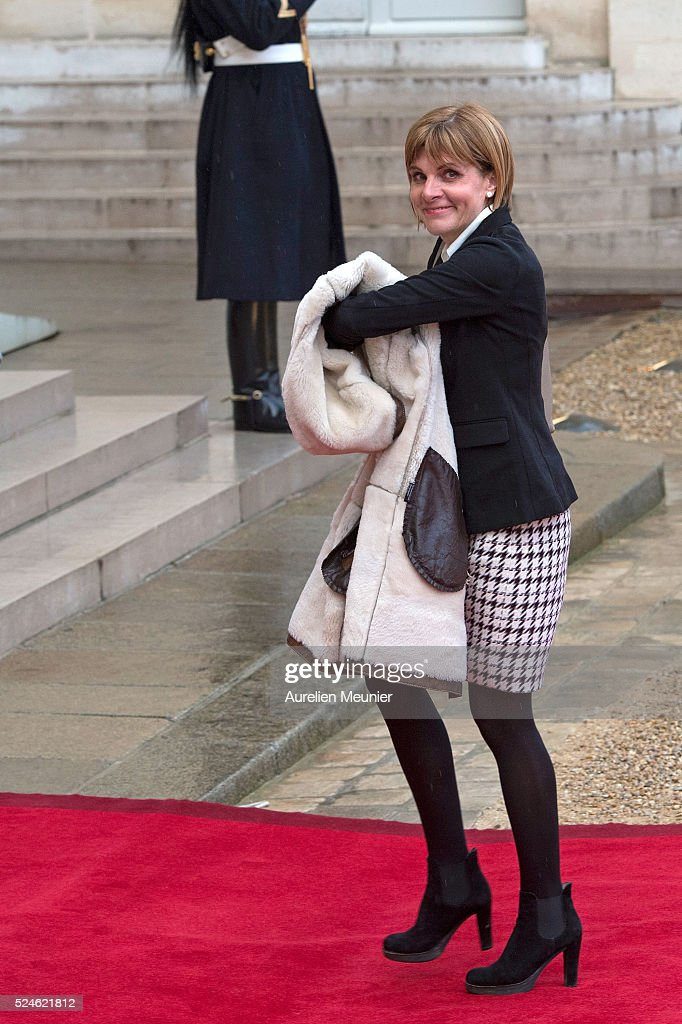 <a gi-track='captionPersonalityLinkClicked' href=/galleries/search?phrase=Anne+Lauvergeon&family=editorial&specificpeople=593162 ng-click='$event.stopPropagation()'>Anne Lauvergeon</a> arrives to the state dinner given by French President Francois Hollande in honor of Peter Cosgrove General Governor of the Australian Commonwealth at Elysee Palace on April 26, 2016 in Paris, France. The Australian Gouvernment ordered 12 submarines to France for the price of 34,5 billion Euro.