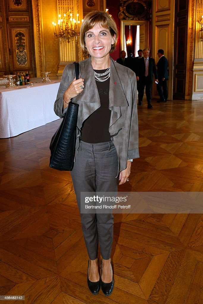 Anne Lauvergeon attends Xavier Darcos receives 'L'Epee d'Academicien' in Paris on October 1, 2014 in Paris, France.