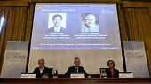Anne L'Huillier member of the Nobel Committee for Physics Goran K Hansson Permanent Secretary of the Royal Swedish Academy of Sciences and Olga...