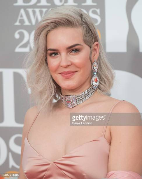 ONLY Anne Marie attends The BRIT Awards 2017 at The O2 Arena on February 22 2017 in London England