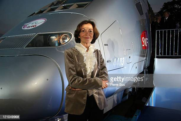 Anne Marie Idrac Chairman of French Rail 'SNCF' during 25th Anniversary of the TGV at Trocadero in Paris Paris France