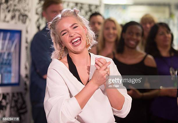 Anne Marie is a guest on The Box Network Channel Relaunch 24 year history at Box Plus Network on May 25 2016 in London England