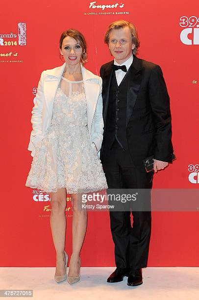 Anne Marivin and Alex Lutz arrive to Le Fouquet's following the 39th Cesar Film Awards 2014 on February 28 2014 in Paris France