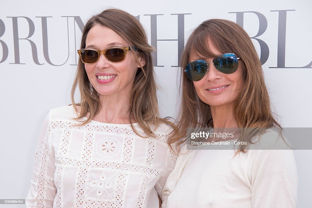 Anne Marivin and Axelle Laffont attend the 'Brunch Blanc' hosted by Barriere Group. Held on Yacht 'Excellence' on June 29, 2014 in Paris, France.