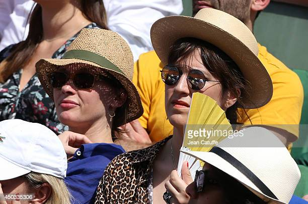 Anne Marivin and Daphne Burki attend the women's final of the French Open 2014 held at RolandGarros stadium on June 7 2014 in Paris France