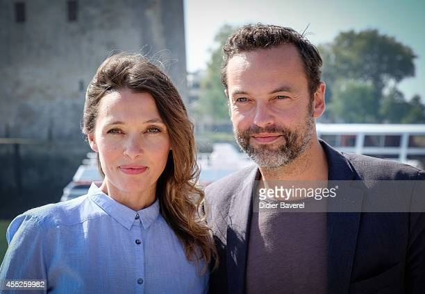 Anne Marivin and Patrick Mille attend the photocall of 'L'Heritiere' as part of 16th Festival of TV Fiction of La Rochelle on September 11 2014 in La...