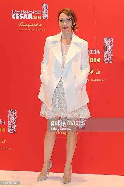 Anne Marivin arrives to Le Fouquet's following the 39th Cesar Film Awards 2014 on February 28 2014 in Paris France