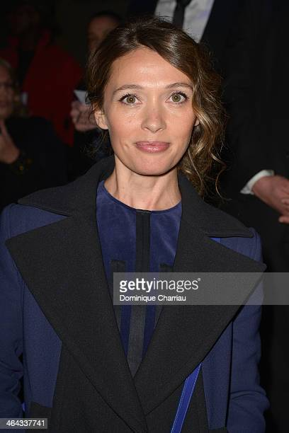 Anne Marivin attends the Elie Saab show as part of Paris Fashion Week Haute Couture Spring/Summer 2014 on January 22 2014 in Paris France