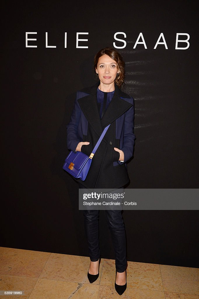 Anne Marivin attends the Elie Saab show as part of Paris Fashion Week Haute Couture Spring/Summer 2014 , at Theatre National de Chaillot, in Paris.