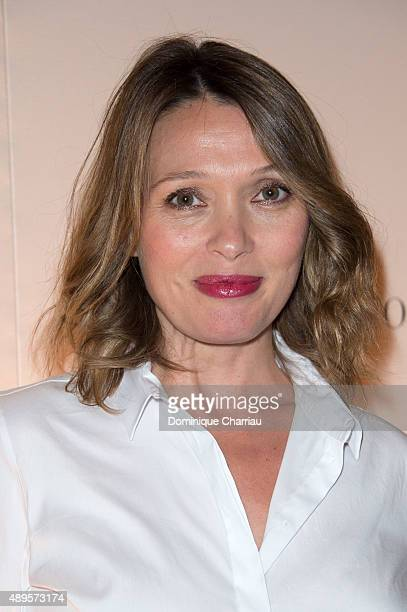 Anne Marivin attends the ShangriLa Hotel Presents It New Hotel Shangri La's le Touessrok Photocall In Paris on September 22 2015 in Paris France