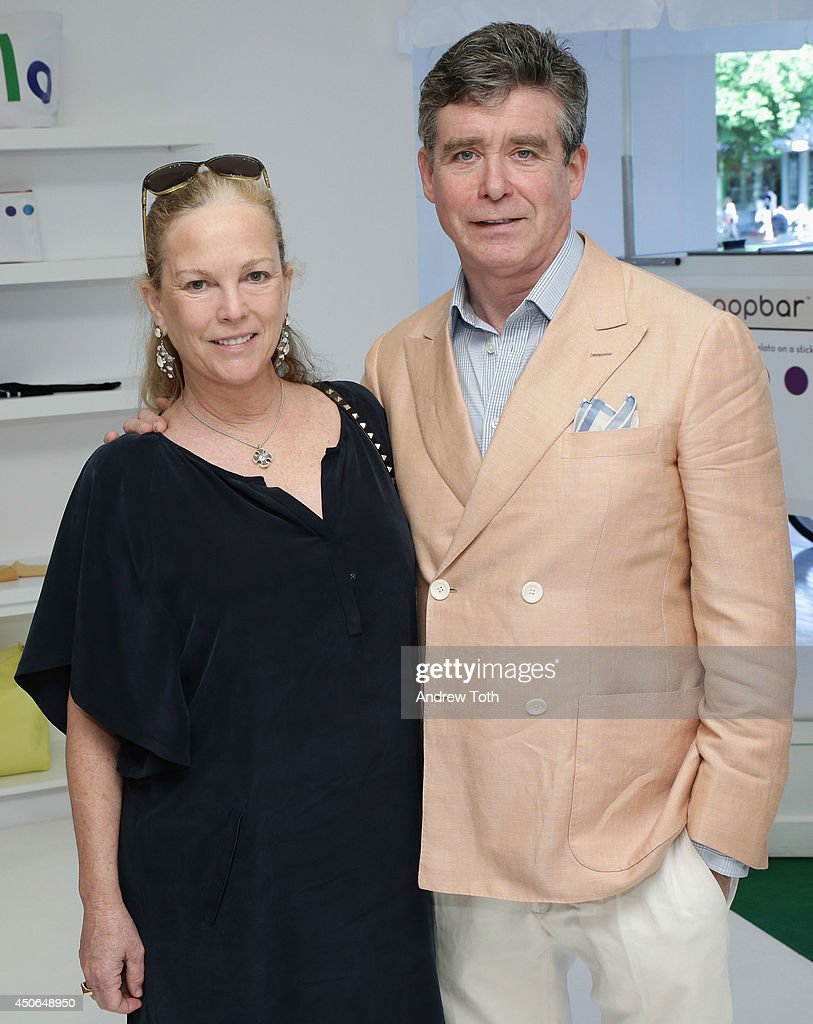 Anne McInerney and author <a gi-track='captionPersonalityLinkClicked' href=/galleries/search?phrase=Jay+McInerney&family=editorial&specificpeople=274753 ng-click='$event.stopPropagation()'>Jay McInerney</a> (R) attend Hamptons Magazine celebrates The New Lisa Perry store on June 14, 2014 in East Hampton, New York.