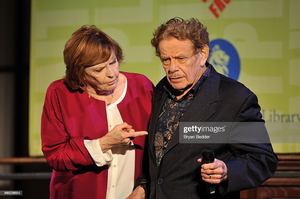 Anne Meara and Jerry Stiller attend the George Carlin Tribute hosted by Whoopi Goldberg at the New York Public Library - Celeste Bartos Forum on March 24, 2010 in New York City.
