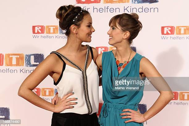 Anne Menden and Isabell Horn attend the 'RTL Spendenmarathon' at RTL Studios on November 23 2012 in Cologne Germany