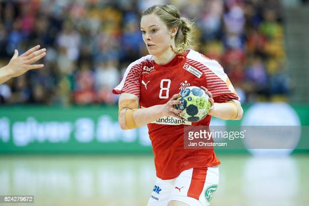 Anne Mette Hansen of Denmark in action during the international friendly match between Denmark and Germany at Ceres Arena on June 08 2017 in Arhus...