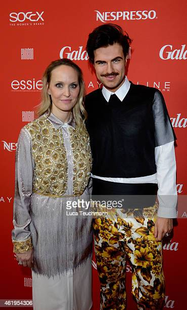 Anne MeyerMinnemann and Andre Borchers attend the GALA Fashion Brunch at Ellington Hotel on January 22 2015 in Berlin Germany