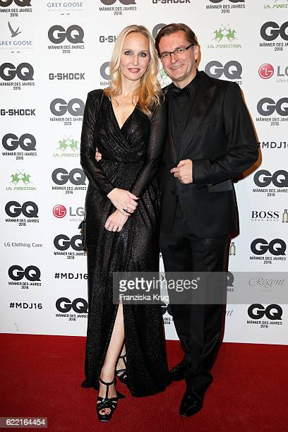 Anne MeyerMinnemann and Claus Strunz arrive at the GQ Men of the year Award 2016 at Komische Oper on November 10 2016 in Berlin Germany